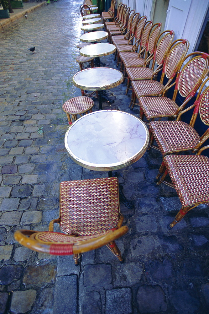 Chairs and tables, Paris, France, Europe