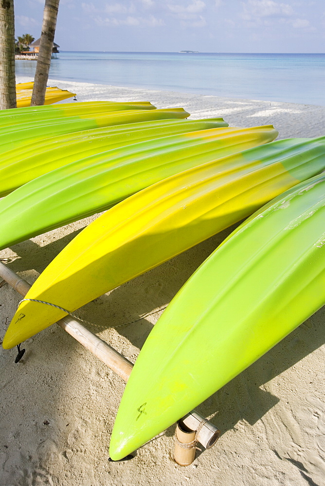 Upturned Kayaks, The Maldives - 728-3615