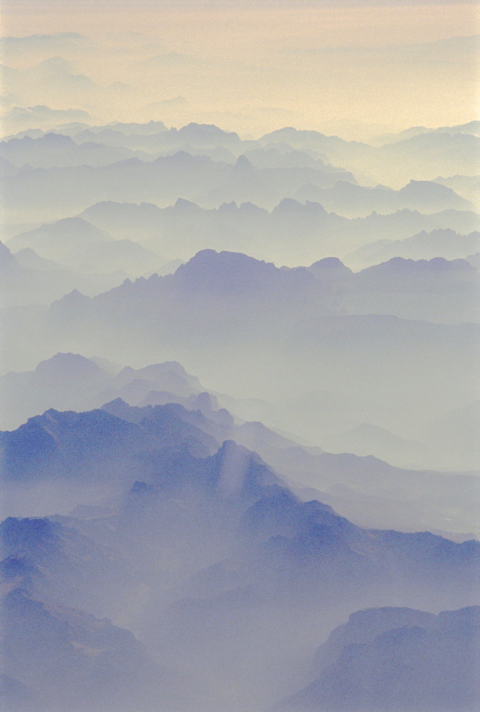 Aerial view of French Alps, France  - 728-548