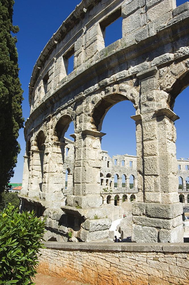 High quality stock photos of roman amphitheatre in pula the 1st century roman amphitheatre columns and arched walls pula istria croatia publicscrutiny Images