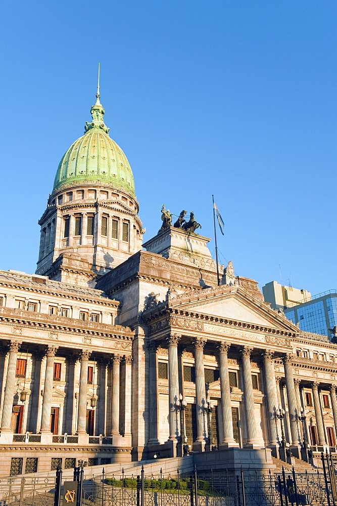 Palacio del Congreso (National Congress Building), Plaza del Congreso, Buenos Aires, Argentina, South America