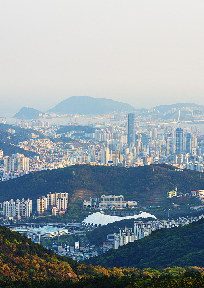 City skyline, Busan, South Korea, Asia