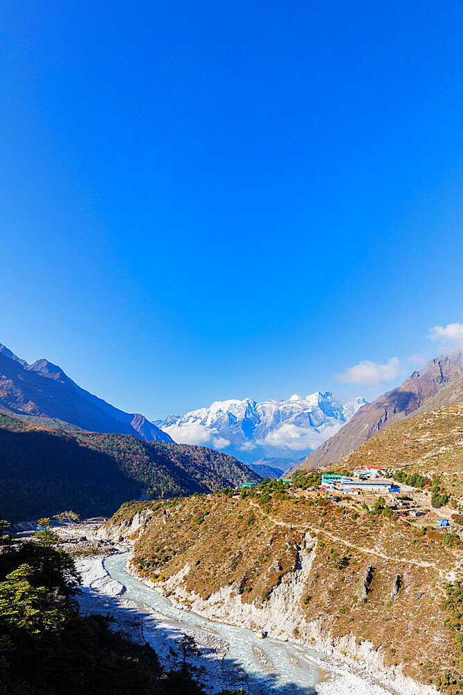 Asia, Nepal, Khumbu valley, Sagamartha National Park, Unesco World Heritage site, village of Pangboche (4000m)
