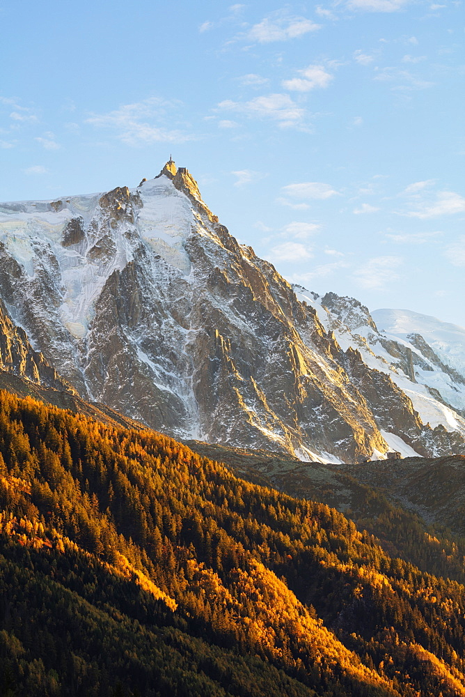 Aiguille du Midi in autumn, Chamonix, Haute Savoie, French Alps, France, Europe