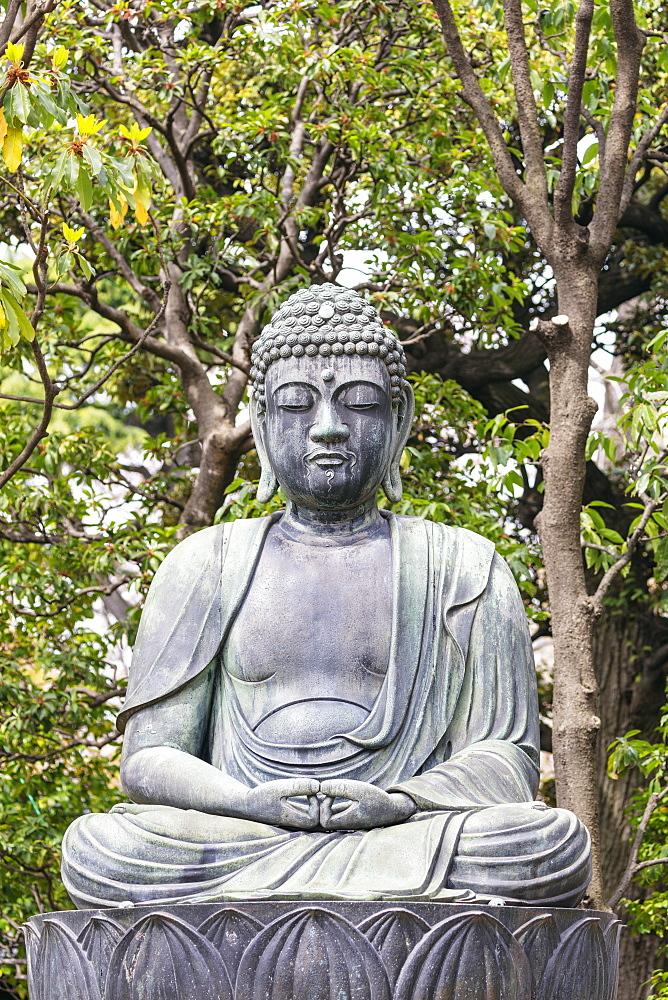 Asia, Japan, Tokyo, Asakusa, Sensoji temple, buddha statue