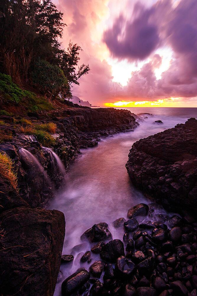 Princeville, Queens Baths, Kauai Island, Hawaii, United States of America, North America