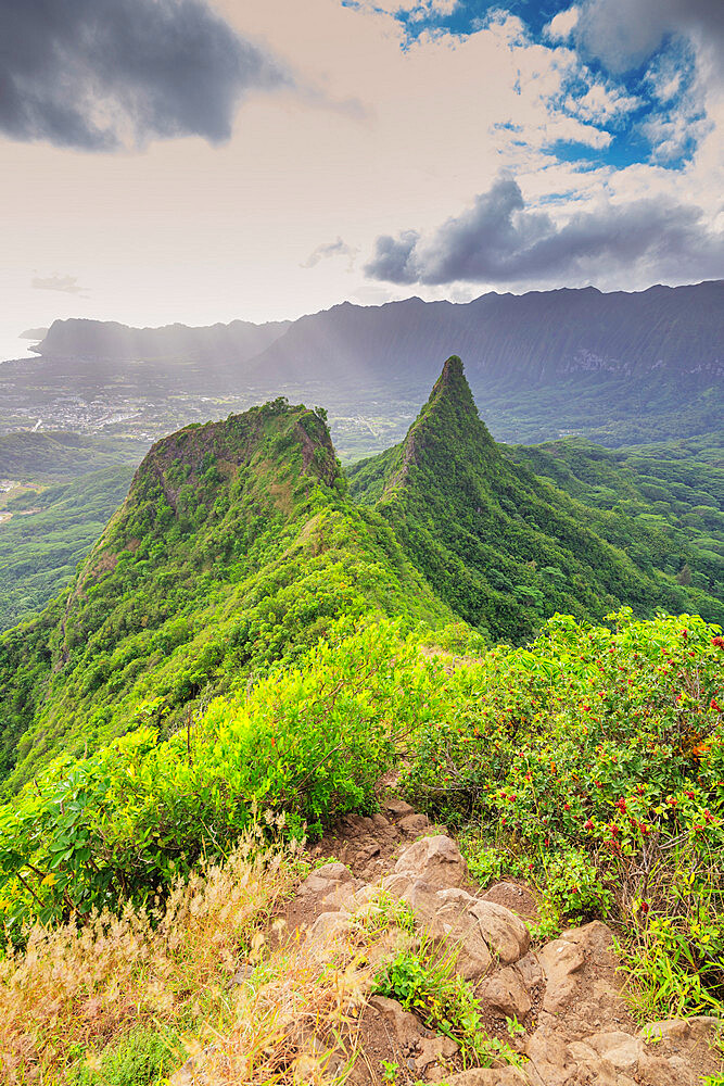 United States of America, Hawaii, Oahu island, 3 peaks trail