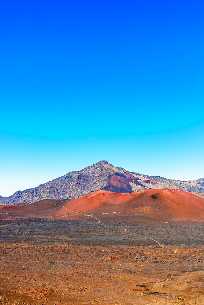 United States of America, Hawaii, Maui island, Haleakala National Park, volcanic landscape - 733-9057