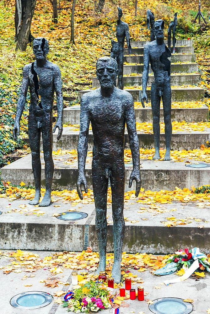 Monument to Victims of Communism between 1948 to 1989 (2002, Olbram Zoubek), Petrin Park, Mala Strana suburb, Prague.