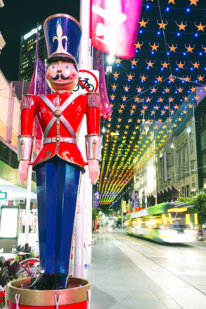 Christmas decorations and Nutcracker at Bourke Street Mall, City of Melbourne, Victoria, Australia, Pacific - 737-721