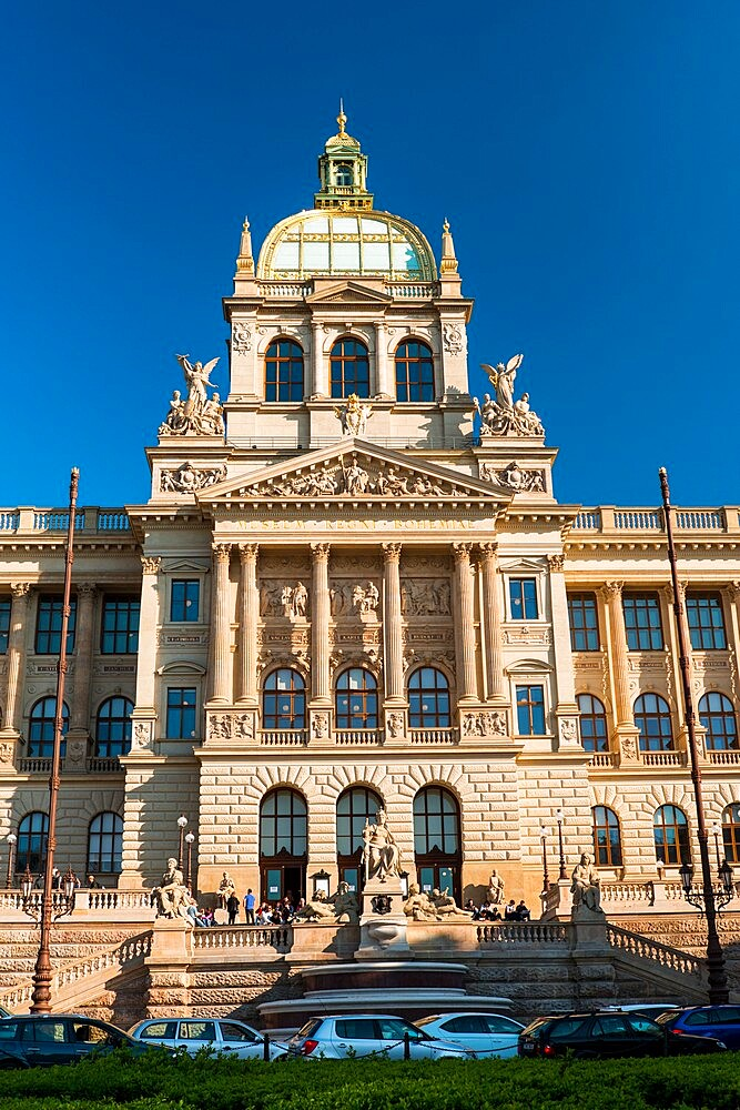 National Museum, Wenceslas Square, New Town, Prague, Czechia, Europe - 737-725