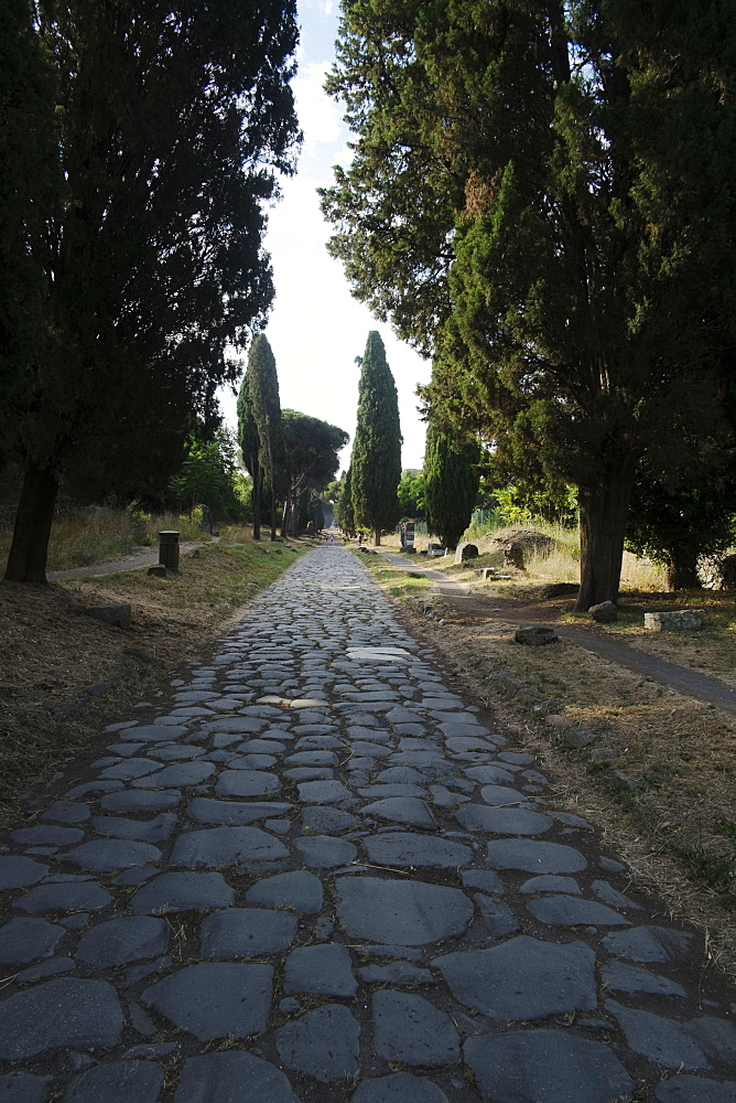 Appian Way anciently connecting Rome to Brindisi, Rome, Lazio, Italy, Europe