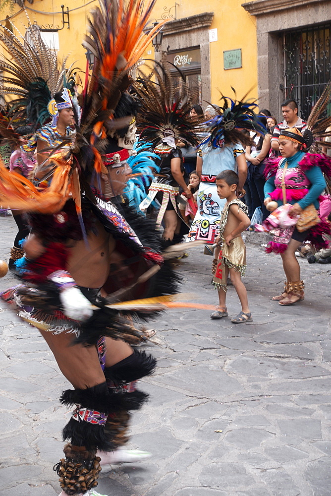 Native Indigenous Dancers, Semana Santa (Holy Week), San Miguel de Allende, Mexico, North America