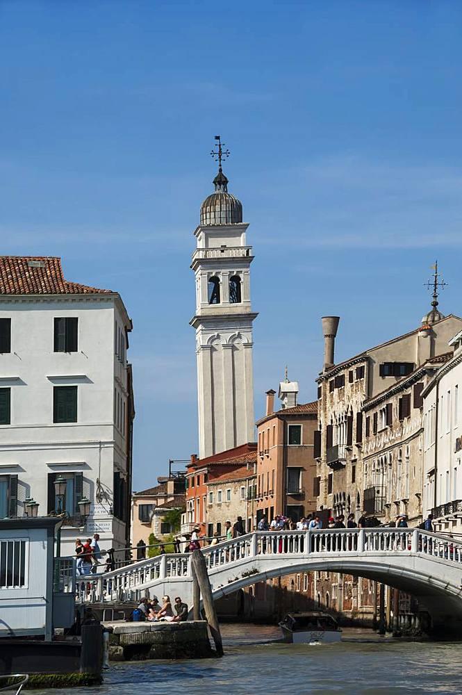 Chiesa San Giorgio dei Greci Campanile, UNESCO World Heritage Site, Venice, Veneto, Italy, Europe - 747-1911