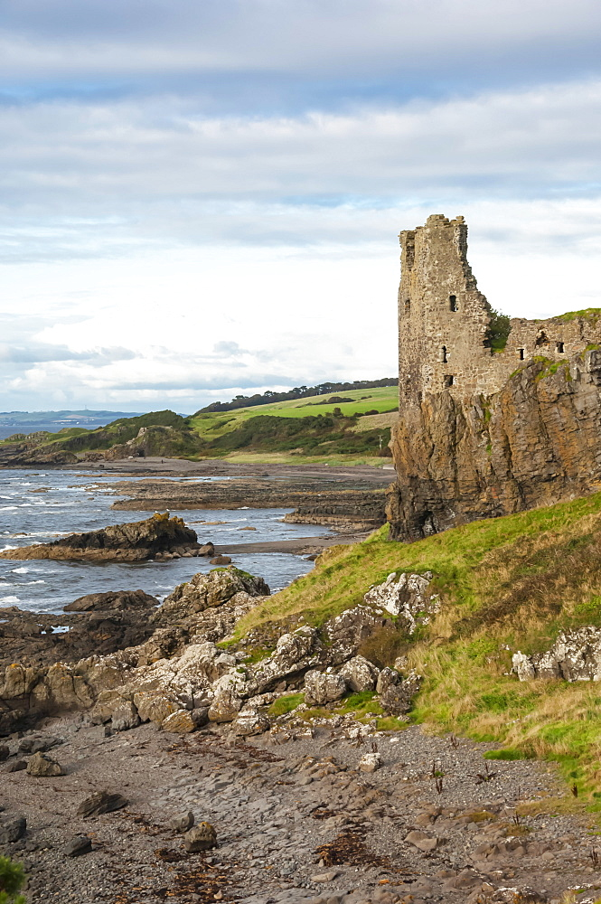 The 13th century Dunure Castle, built by Clan Kennedy, Carrick Coast, Ayrshire, Scotland, United Kingdom, Europe
