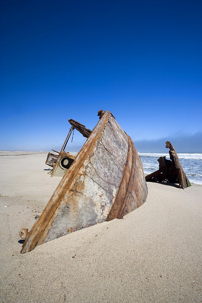 Ship wreck, Skeleton Coast, Namibia, Africa
