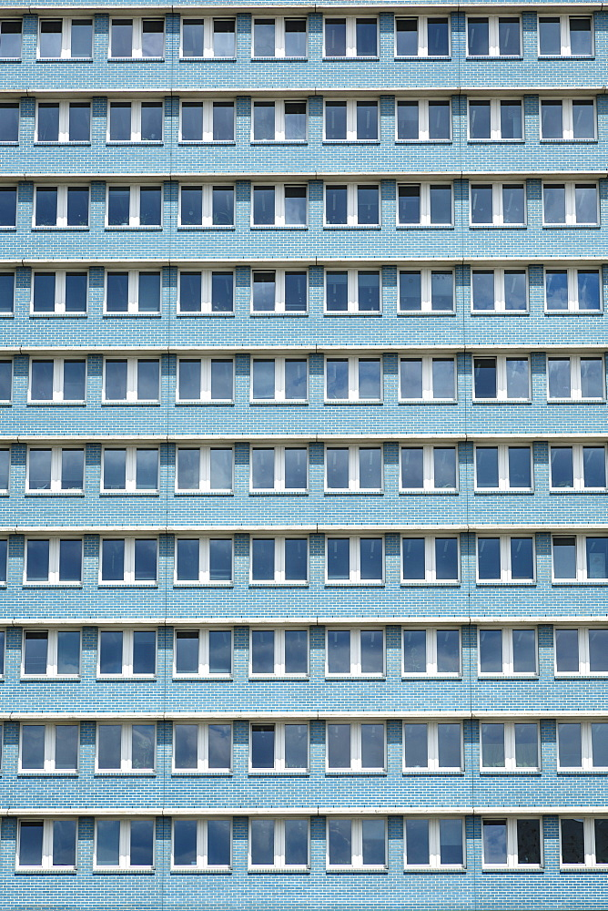 Stalinist architecture of apartment building on Karl Marx Allee, Friedrichshain, Berlin, Germany, Europe