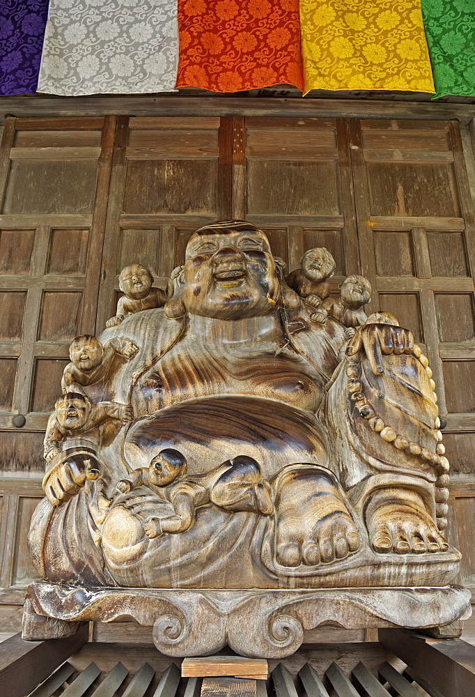 Buddha Statue, Yamadera Temple (Risshaku-ji) on Mount Hoju, Northern Honshu (Tohoku), Japan, Asia