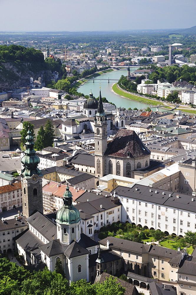 Old Town seen from fortress Hohensalzburg, Salzburg, Austria, Europe