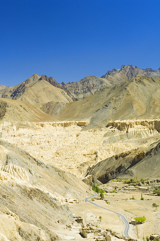 Moon Land eroded cliffs, Lamayuru, Ladakh, Indian Himalayas, India, Asia