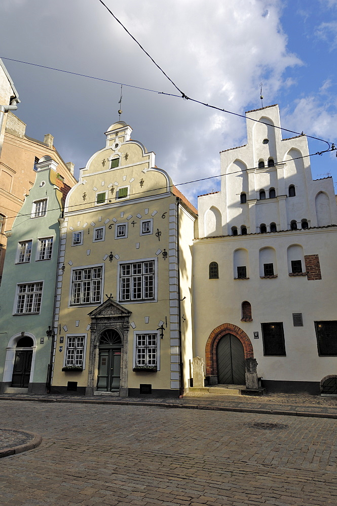 Architecture of the Old Town (the Three Brothers), Riga, Latvia, Baltic States, Europe