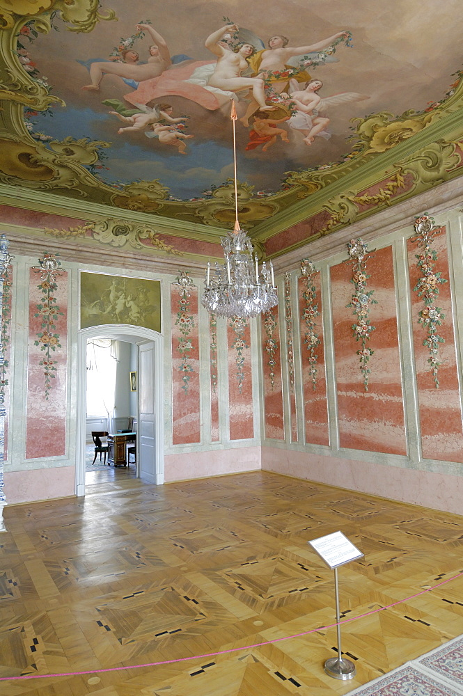 The Rose Room, Rundale Palace, near Bauska, Latvia, Baltic States, Europe