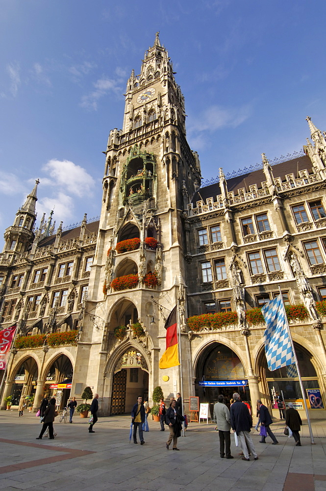 Neues Rathaus (New Town Hall), Marienplatz, Munich, Bavaria (Bayern), Germany, Europe