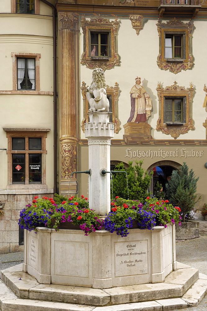 Market Platz, Berchtesgaden, Bavaria, Germany, Europe - 762-493