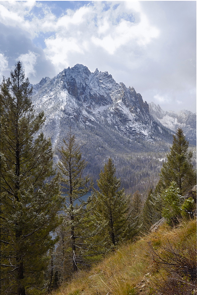 Snow-capped Sawtooth Mountains, near Redfish Lake, Rocky Mountains, Idaho, United States of America, North America