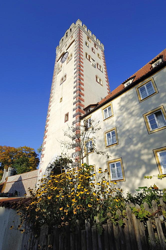 Bayertor (Bayer Gateway) in the city walls, Landsberg am Lech, Bavaria (Bayern), Germany, Europe