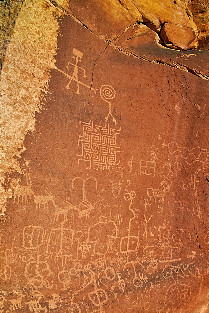 Petroglyphs, Vermilion Cliffs National Monument, Arizona, United States of America, North America