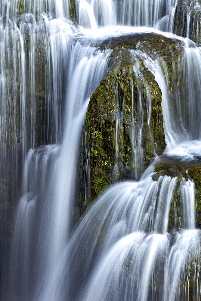 Lower Lewis River Falls detail, Gifford Pinchot National Forest, Washington, United States of America, North America