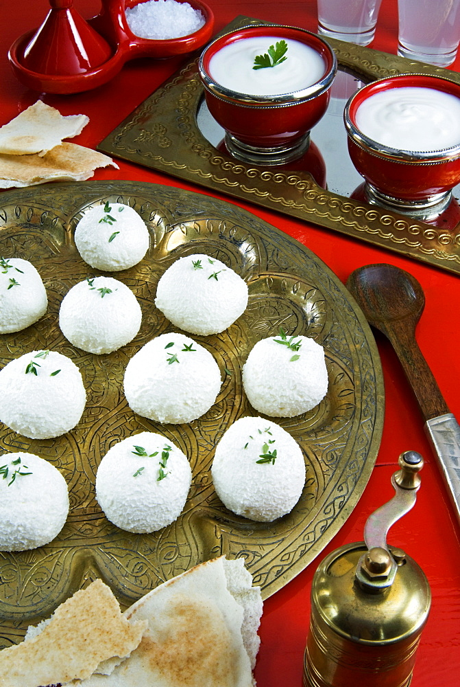 Labna, yoghurt cheese, Middle Eastern food, Egypt, North Africa, Africa