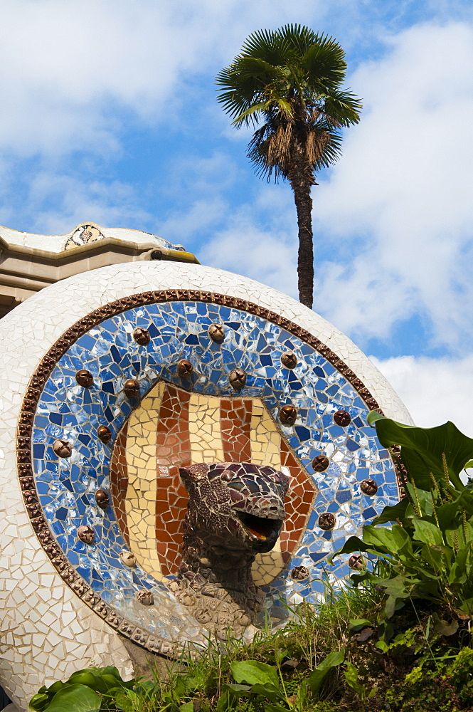 Guell Park (Parc Guell), Unesco World Heritage Site, Barcelona, Catalunya (Catalonia) (Cataluna), Spain, Europe - 765-1463