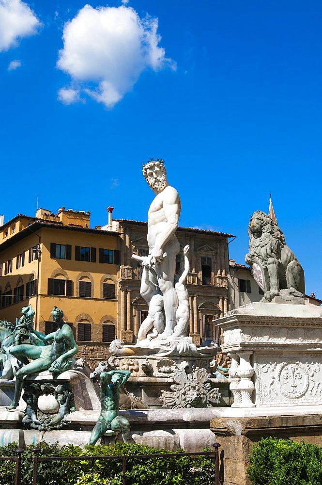 Fountain of Neptune (Biancone), Florence (Firenze), UNESCO World Heritage Site, Tuscany, Italy, Europe