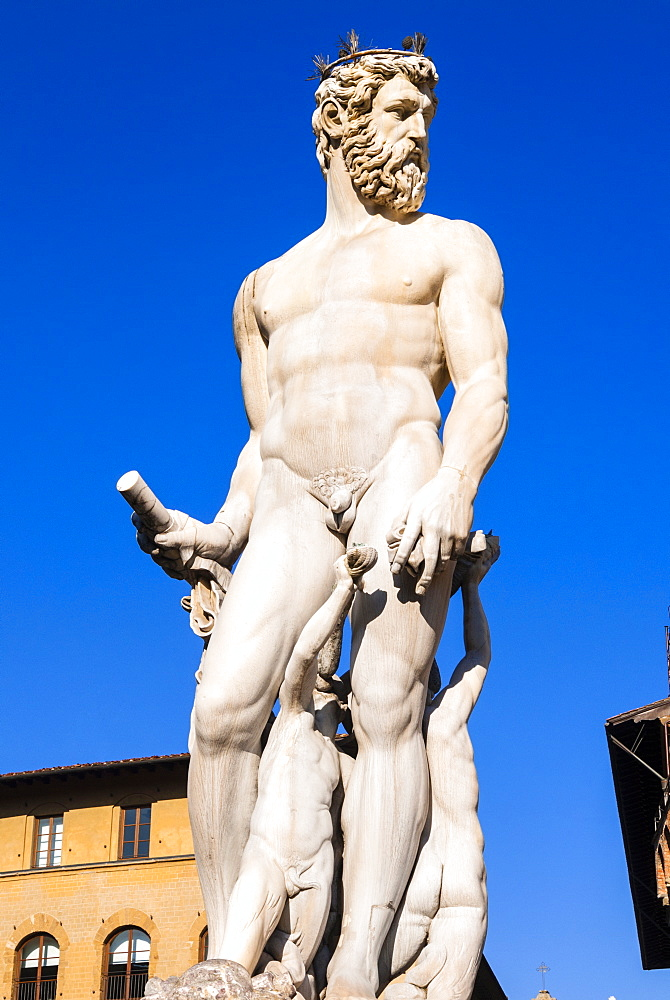Fountain of Neptune (Biancone), UNESCO World Heritage Site, Florence (Firenze), Tuscany, Italy, Europe