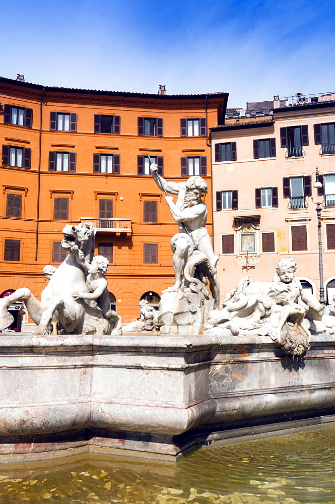 Fountain of Neptune, Piazza Navona, Rome, Unesco World Heritage Site, Latium, Italy, Europe - 765-1944