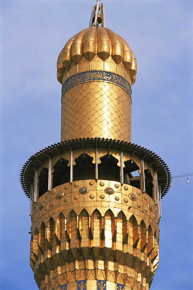 Minaret, Kadoumia mosque, Baghdad, Iraq, Middle East