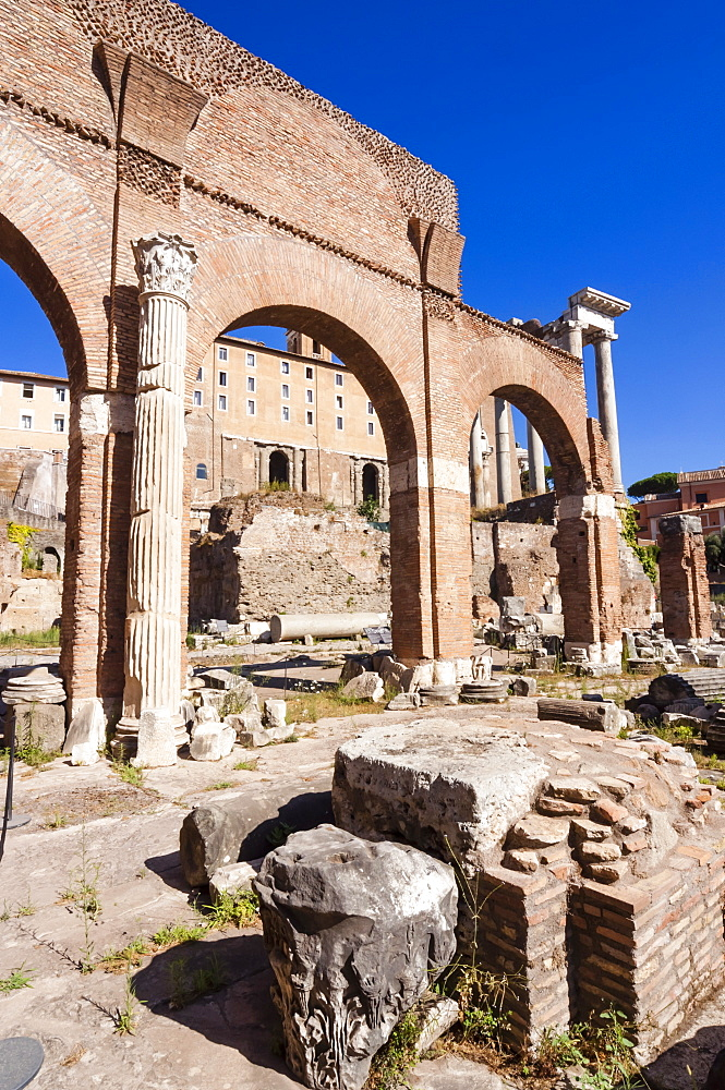 Basilica Julia, Roman Forum, UNESCO World Heritage Site, Rome, Lazio, Italy, Europe
