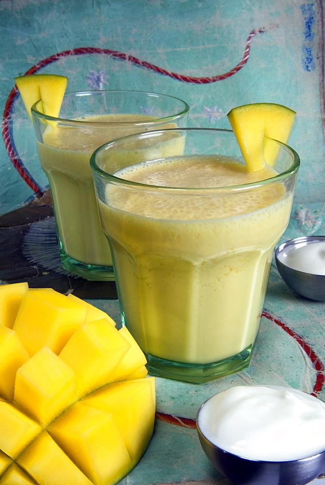 Indian food, lassi, mango juice, India, Asia - 765-350