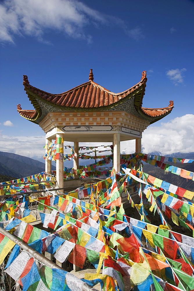 Buddhist stupa, Deqin, called Shangri-La, on the Tibetan Border, Shangri-La region, Yunnan Province, China, Asia