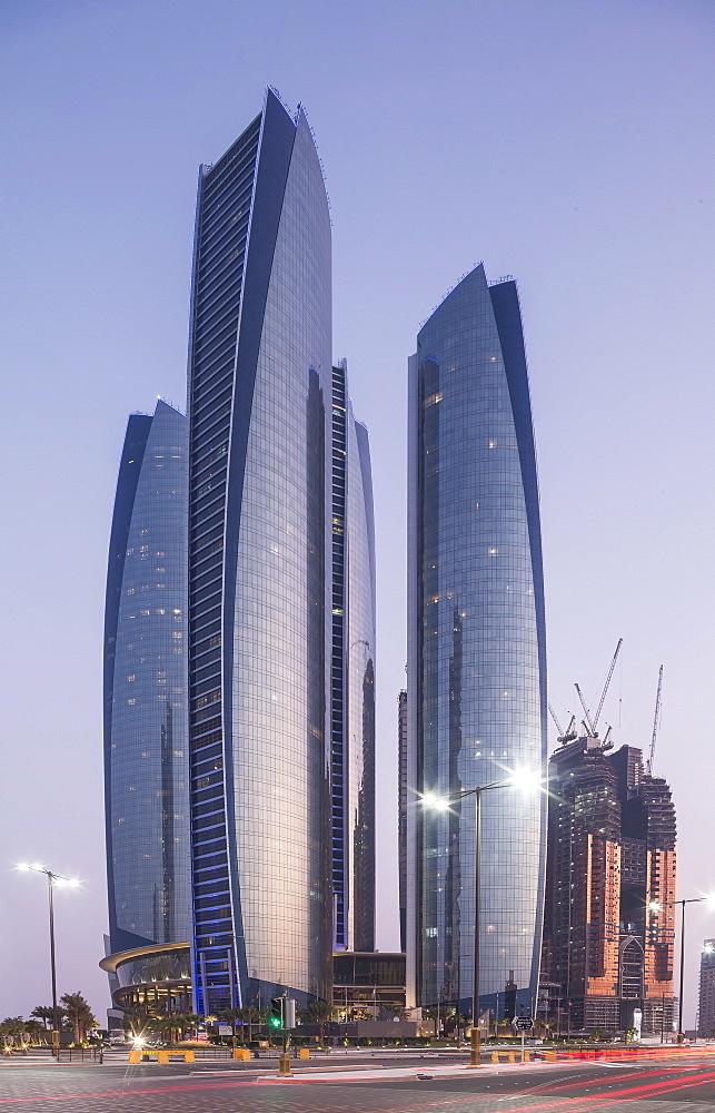 The Etihad Towers, Abu Dhabi, United Arab Emirates, Middle East