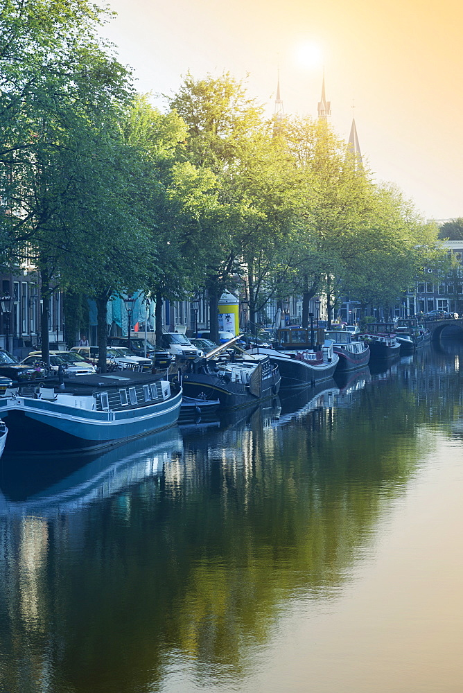 Canal, Amsterdam, The Netherlands, Europe