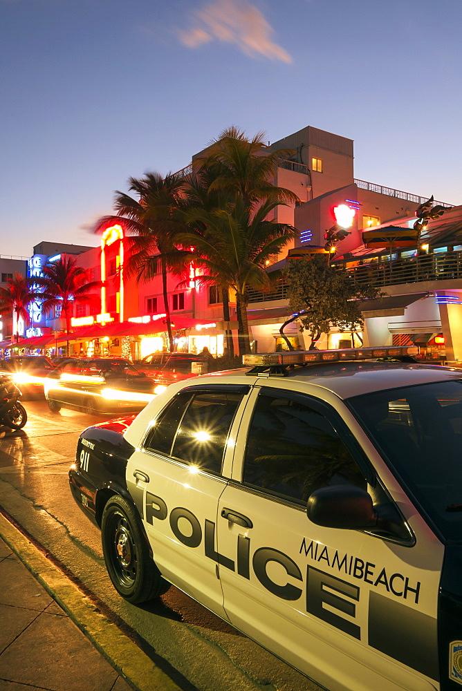 Art Deco District, Ocean Drive, South Beach, Miami Beach, Florida, United States of America, North America.