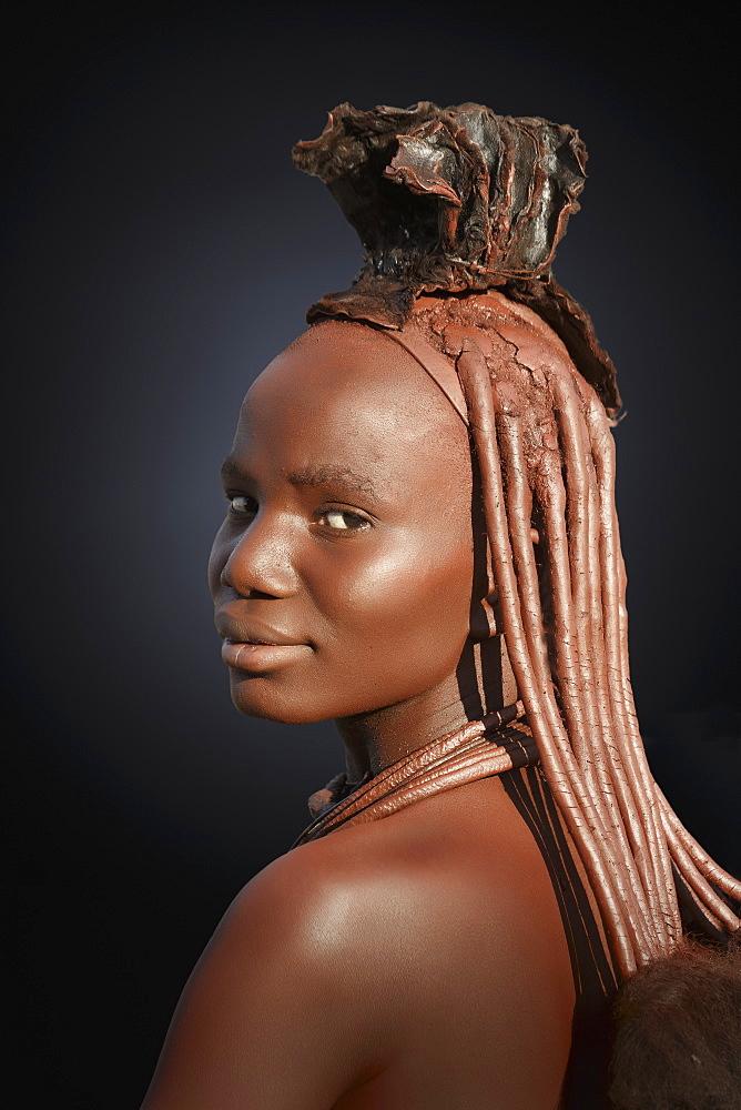 Himba with braided hair, Kaokoland, Namibia, Africa