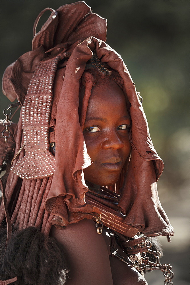 Young Himba woman, Kaokoland, Namibia, Africa - 772-3633