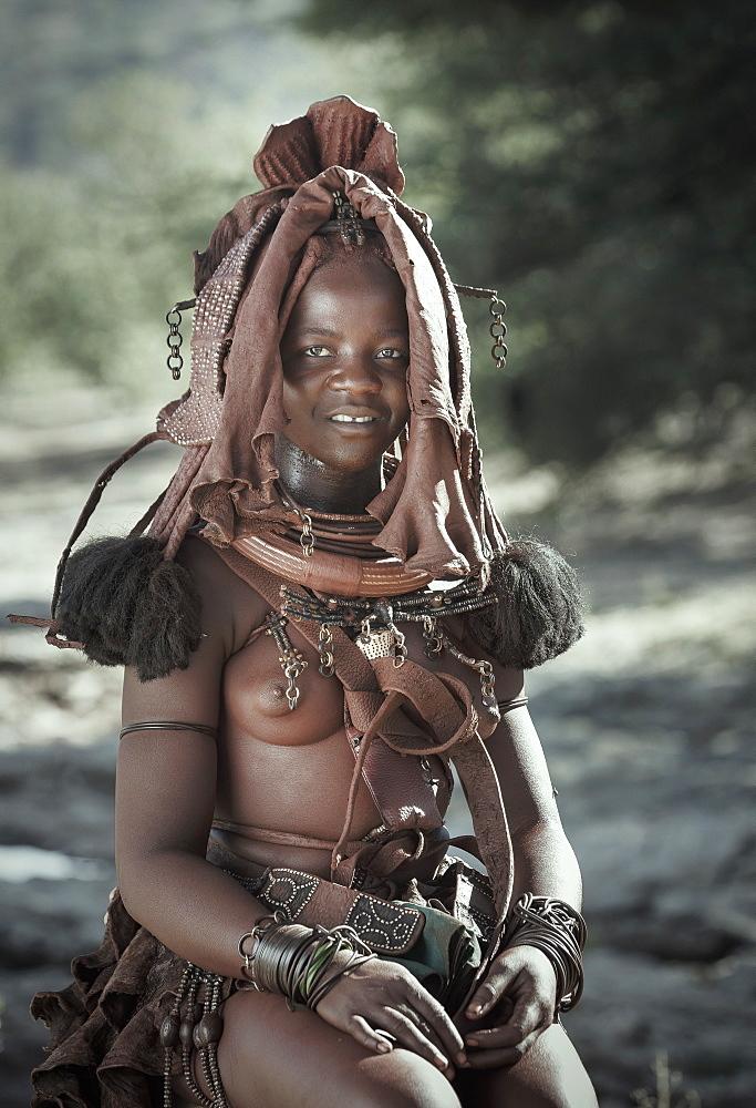 Himba woman, Kaokoland, Namibia, Africa - 772-3635