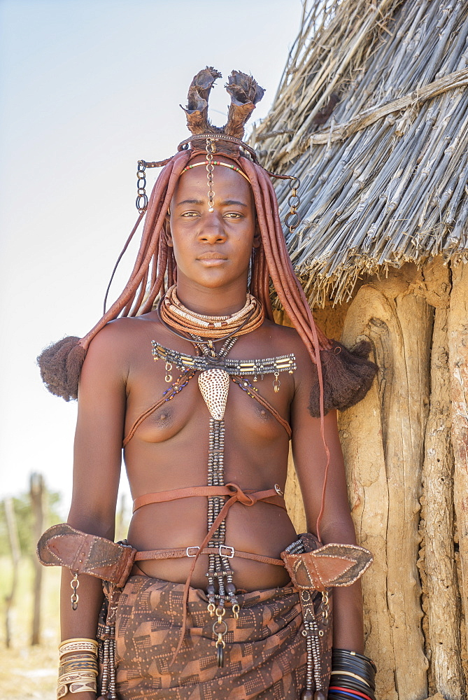 Himba woman, Kaokoland, Namibia, Africa - 772-3652