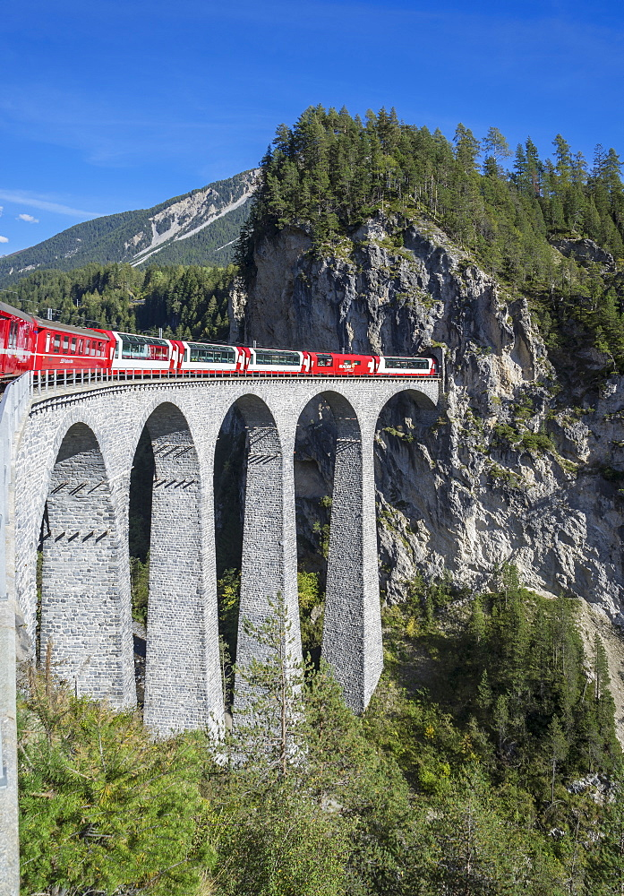 Landwasser Viadukt, Filisur, Graubunden, Swiss Alps, Switzerland, Europe - 772-3667