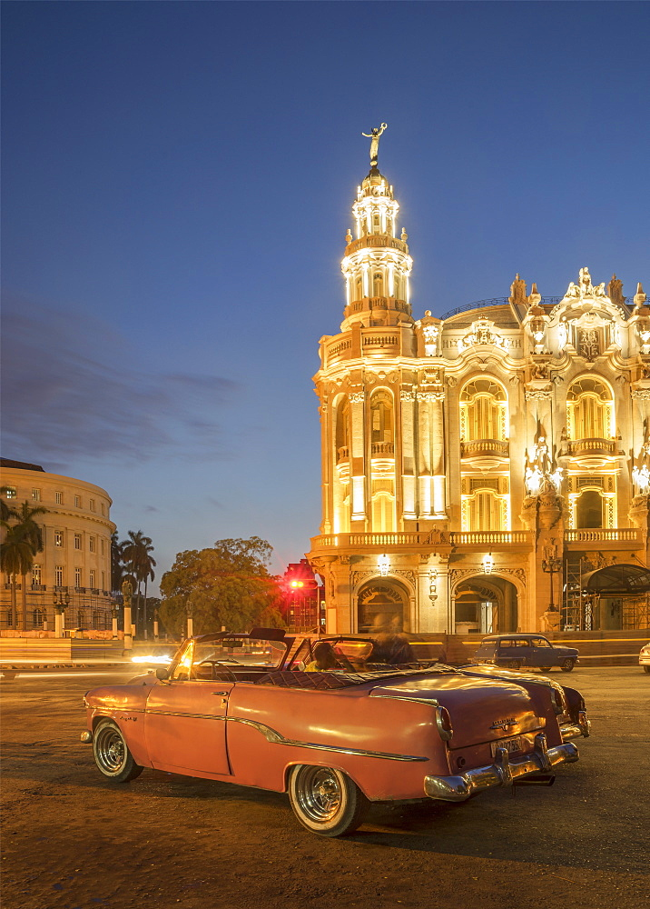 Old American car, Havana, Cuba, West Indies, Caribbean, Central America - 772-3684